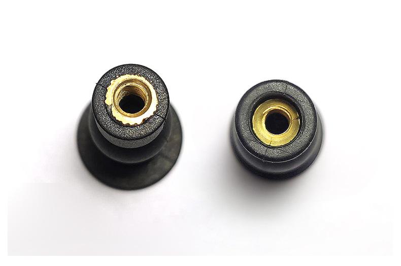 马桶盖配件 马桶盖膨胀套固定螺母 橡胶尼龙锁紧螺母 M5/M6
