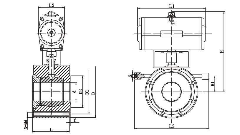 OSAQ672W 气动保温球阀