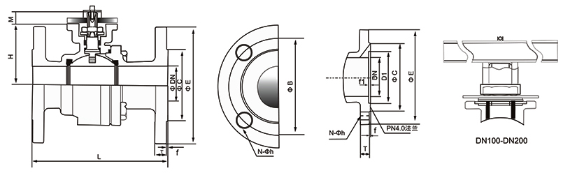 OSAQ941电动法兰式球阀