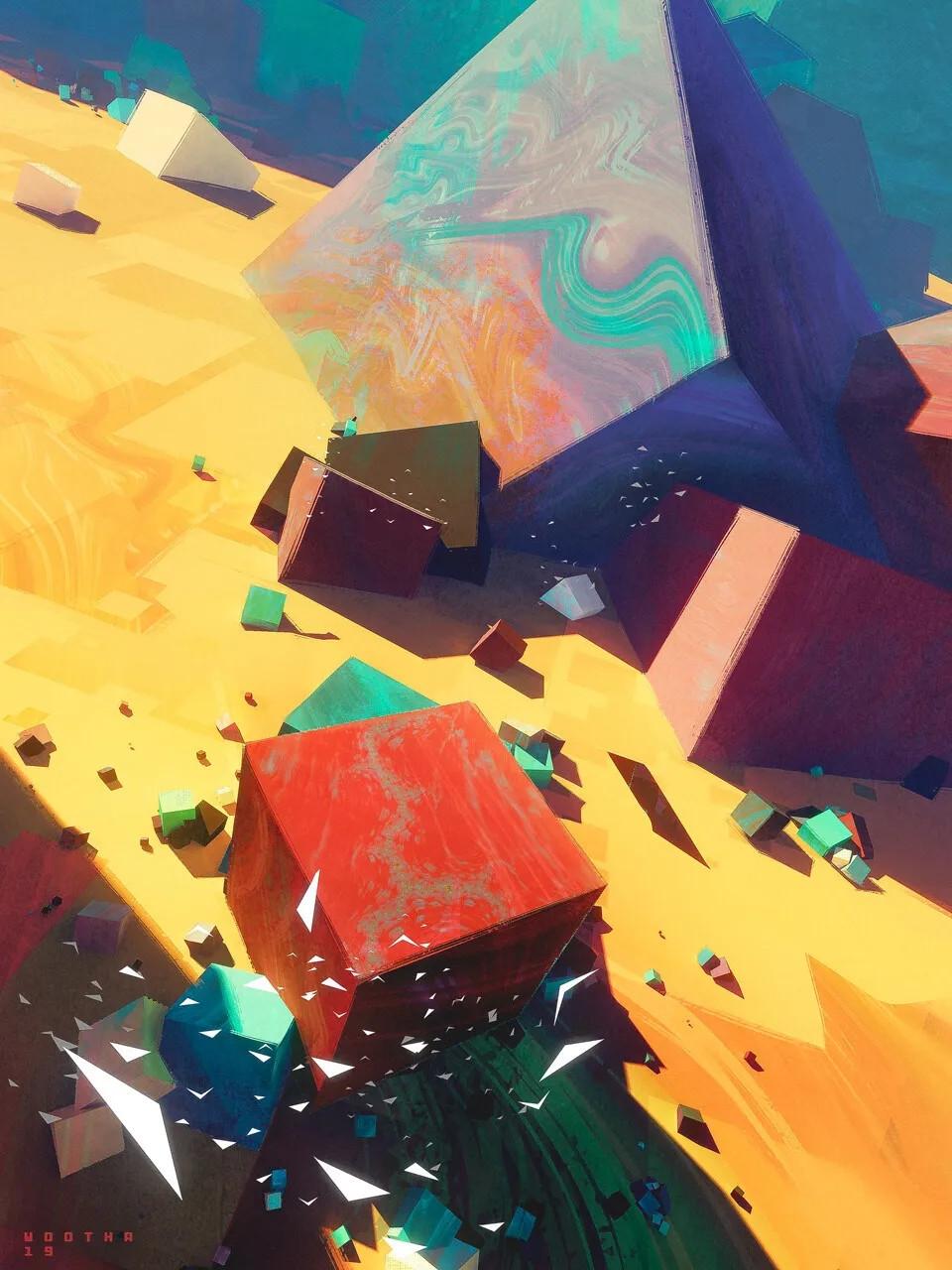 MG动画制作里艺术没有界限,你见过上帝打翻了调色盘的样子吗?