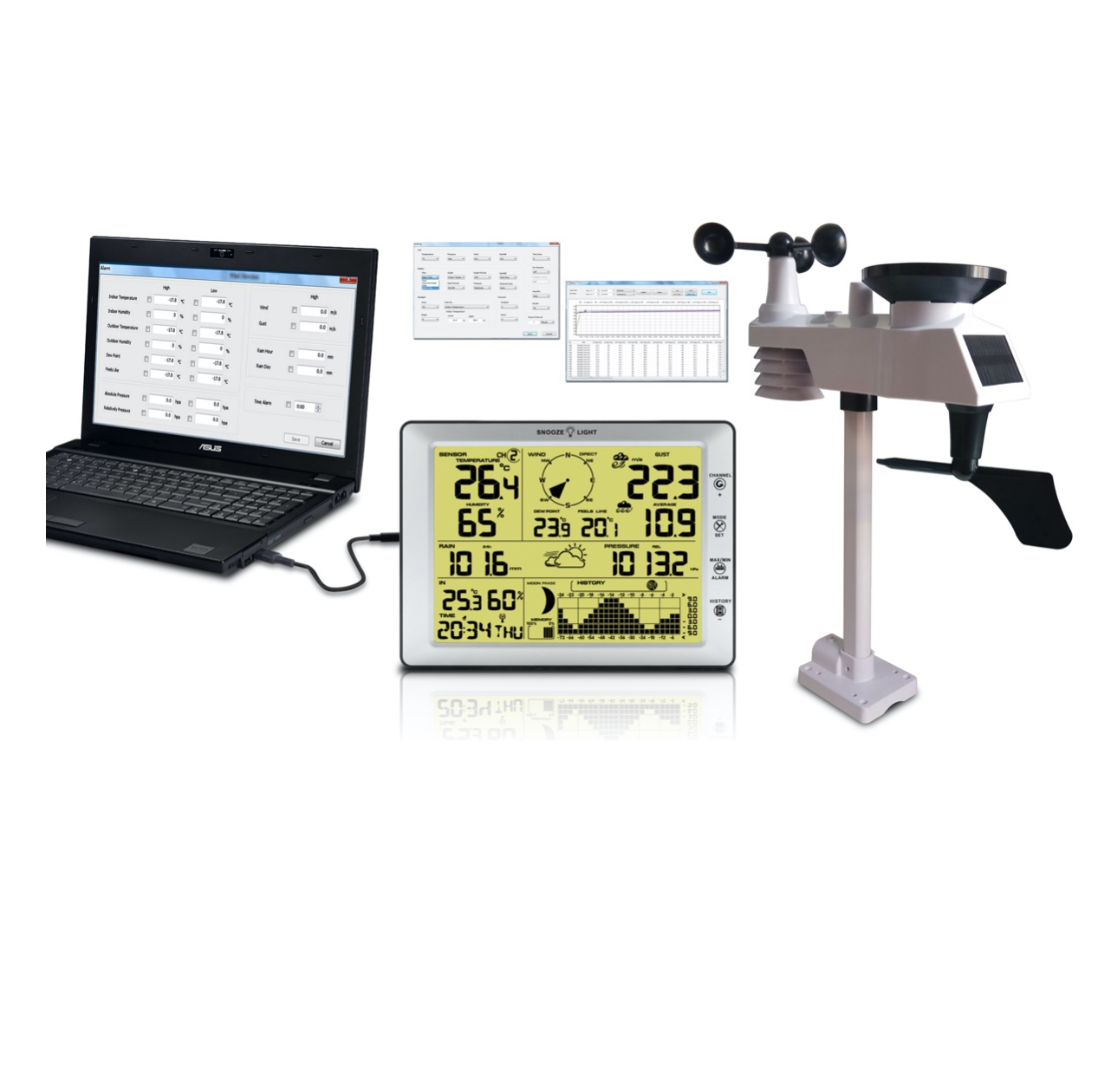 FT-0205 Professional Weather Station with PC interface