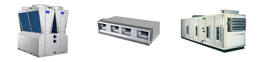 模块式风冷冷水(热泵)机组+风机盘管+空调箱