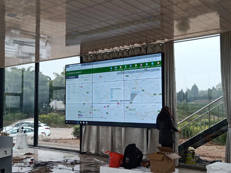 渠县农业园区示范项目展示屏,液晶拼接屏