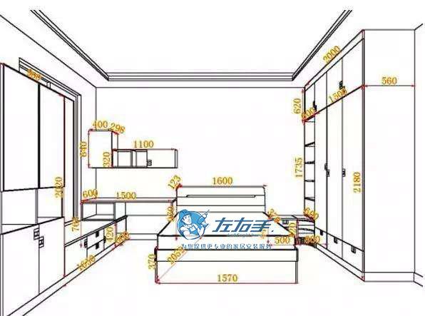 定制入墙衣柜安装尺寸