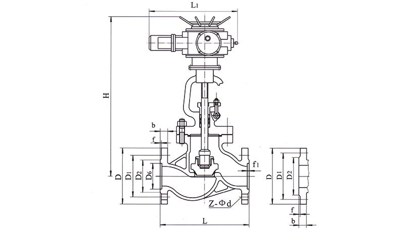 OSAJ941H、OSAJ941Y型电动法兰连接钢制截止阀