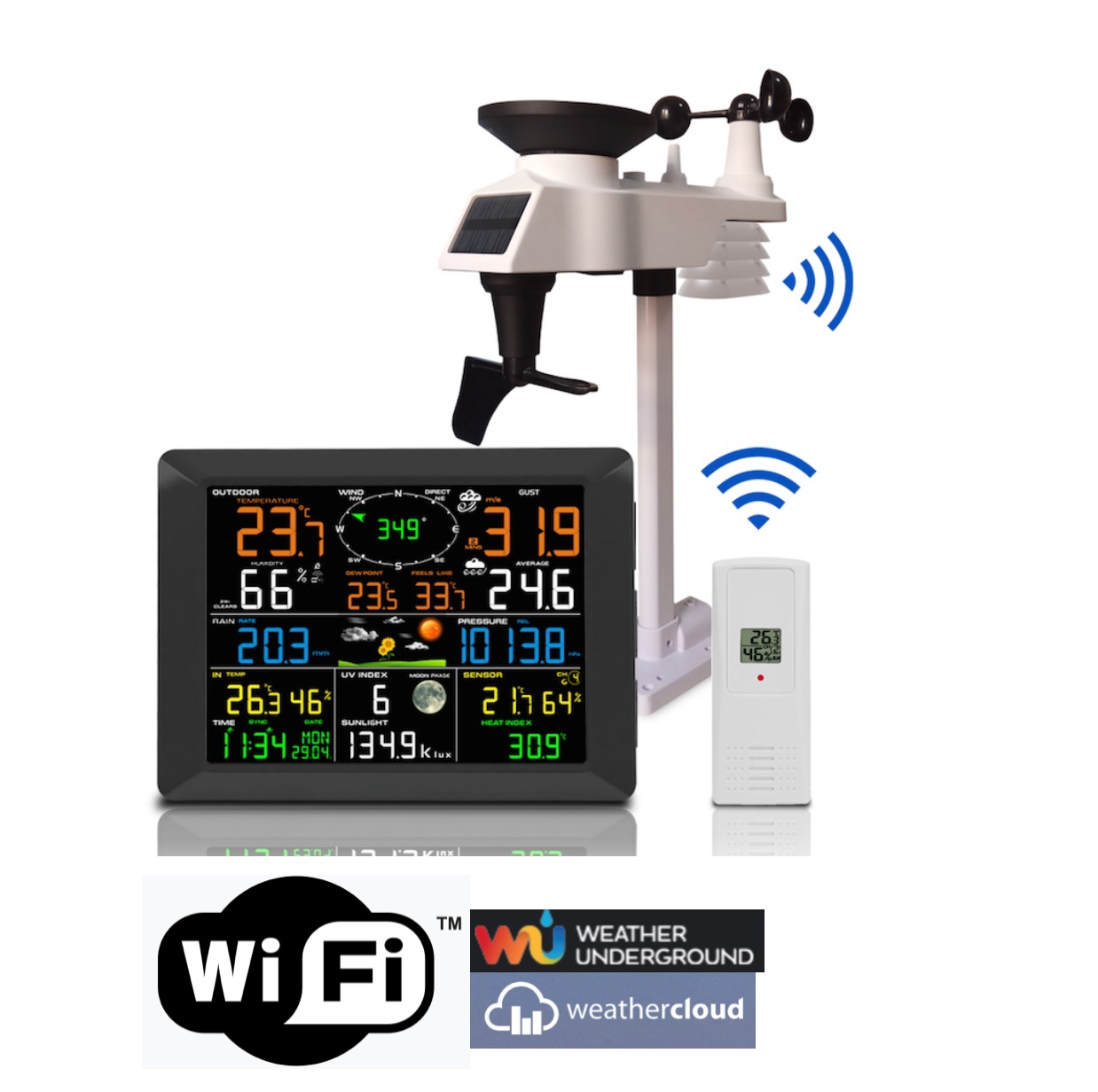 FT-0300-WIFI Jumbo display Internet Professional Weather Station