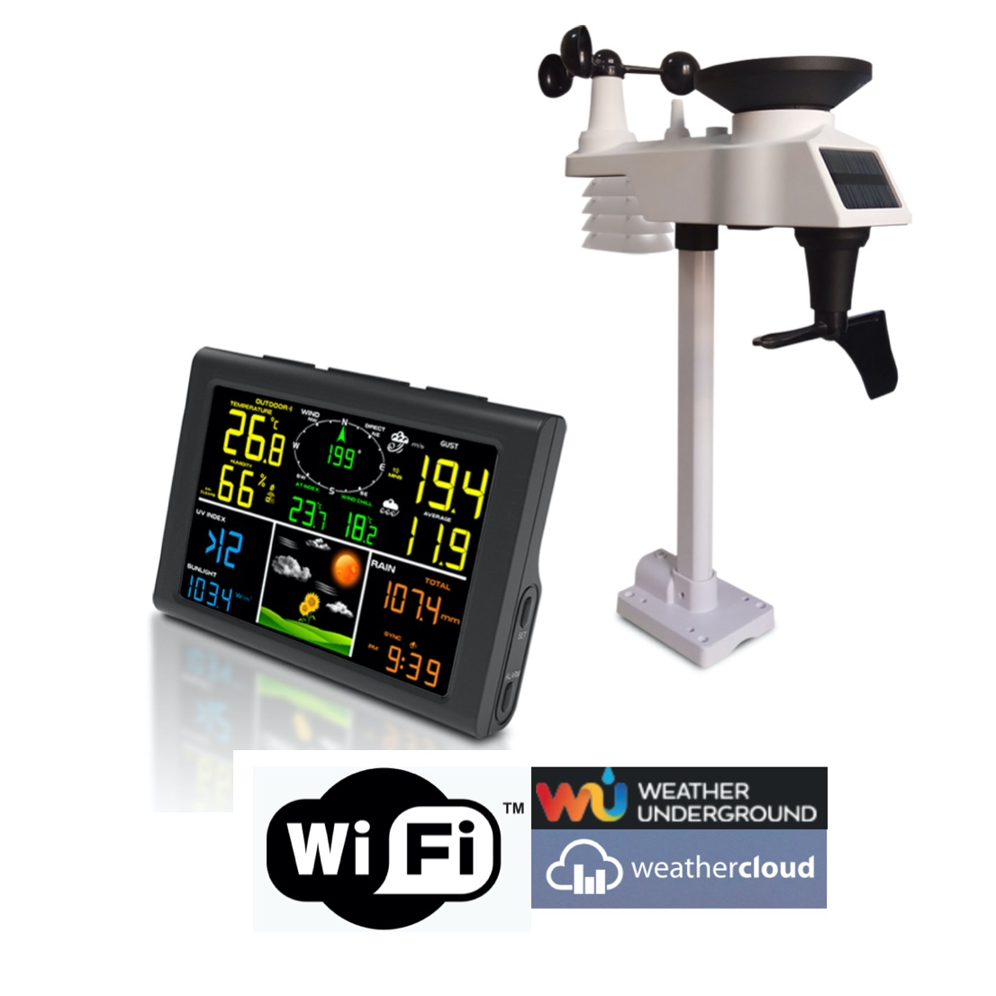 FT-0832-WIFI Professional Internet Weather Station