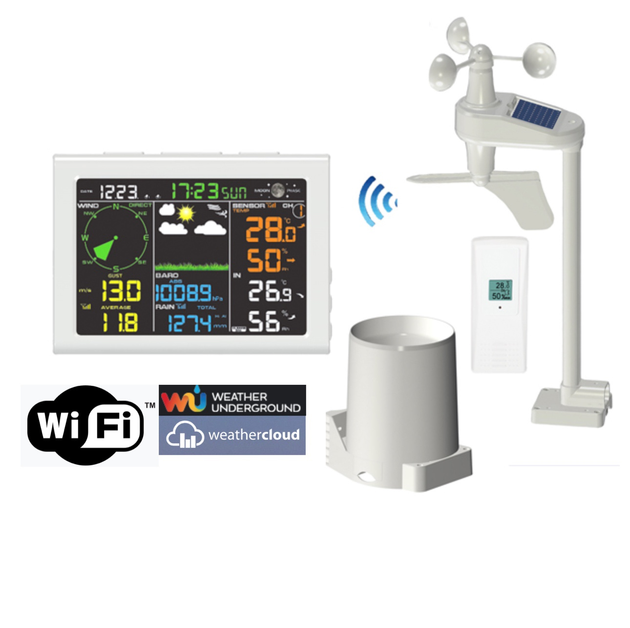 FT-0830-WIFI Professional Color Display Internet Weather St