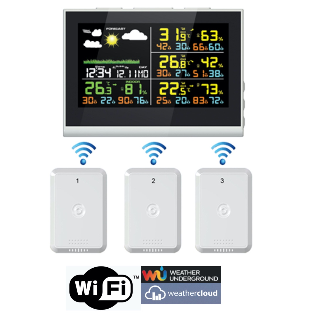 FT-0850-WIFI Color Display Internet Weather Station with Projection clock
