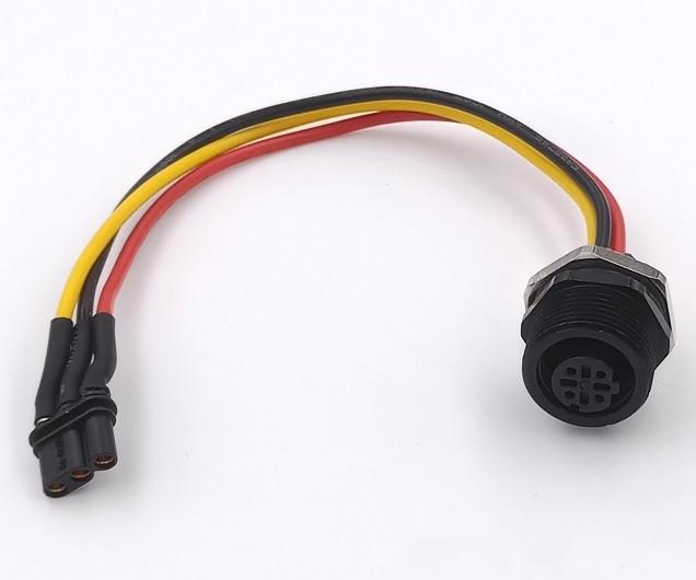 M12防水连接器_四芯_母端插座