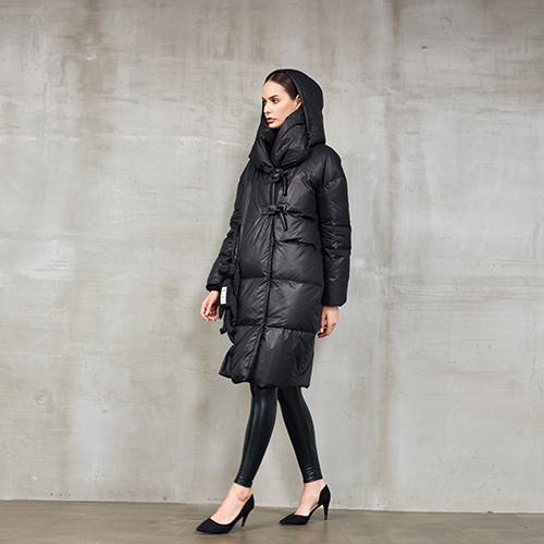 2020年新款白鸭绒气质收摆中长款过膝   欧洲站冬装