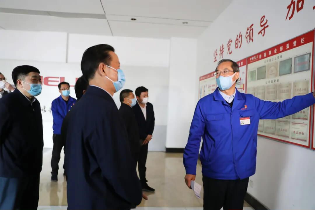 安徽省政协主席张昌尔莅临合力考察调研