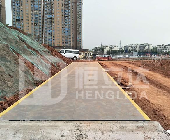 重庆地磅厂家在成都安装3*12米100吨地磅成功!