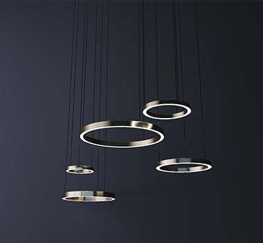 现代环形吊灯3d模型