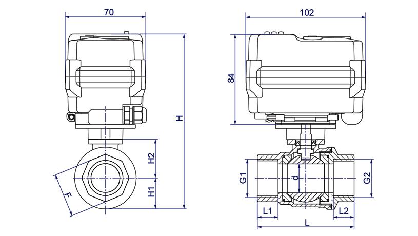 OSATVQ911系列調節型電動球閥