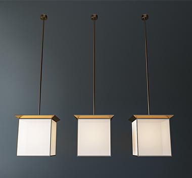 新中式小吊灯3d模型