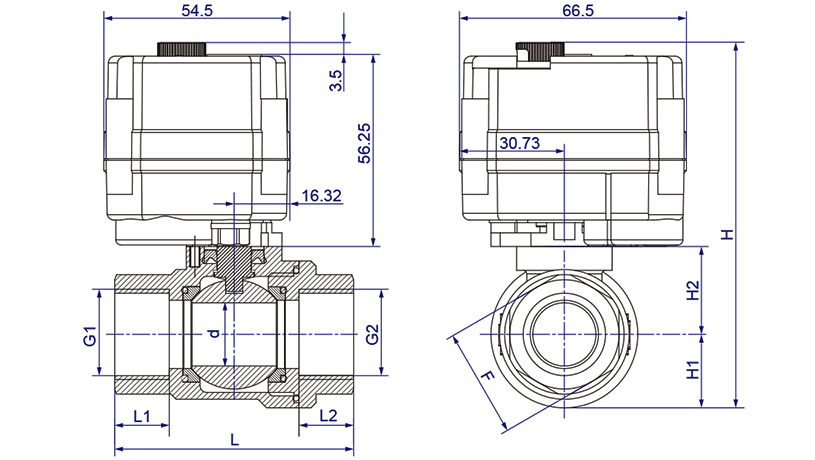OSAWQ911系列微型电动球阀