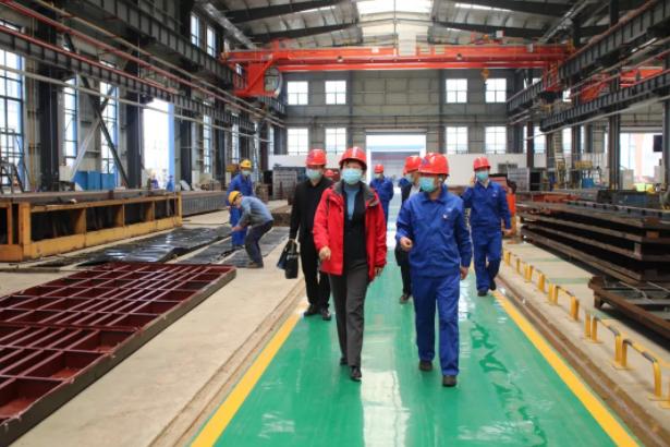 湖北省應急管理廳領導到中國船舶中國應急赤壁產業園調研