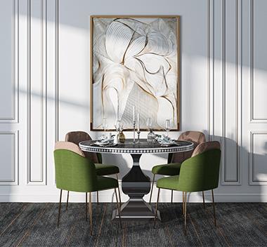 北欧轻奢餐桌椅3d模型