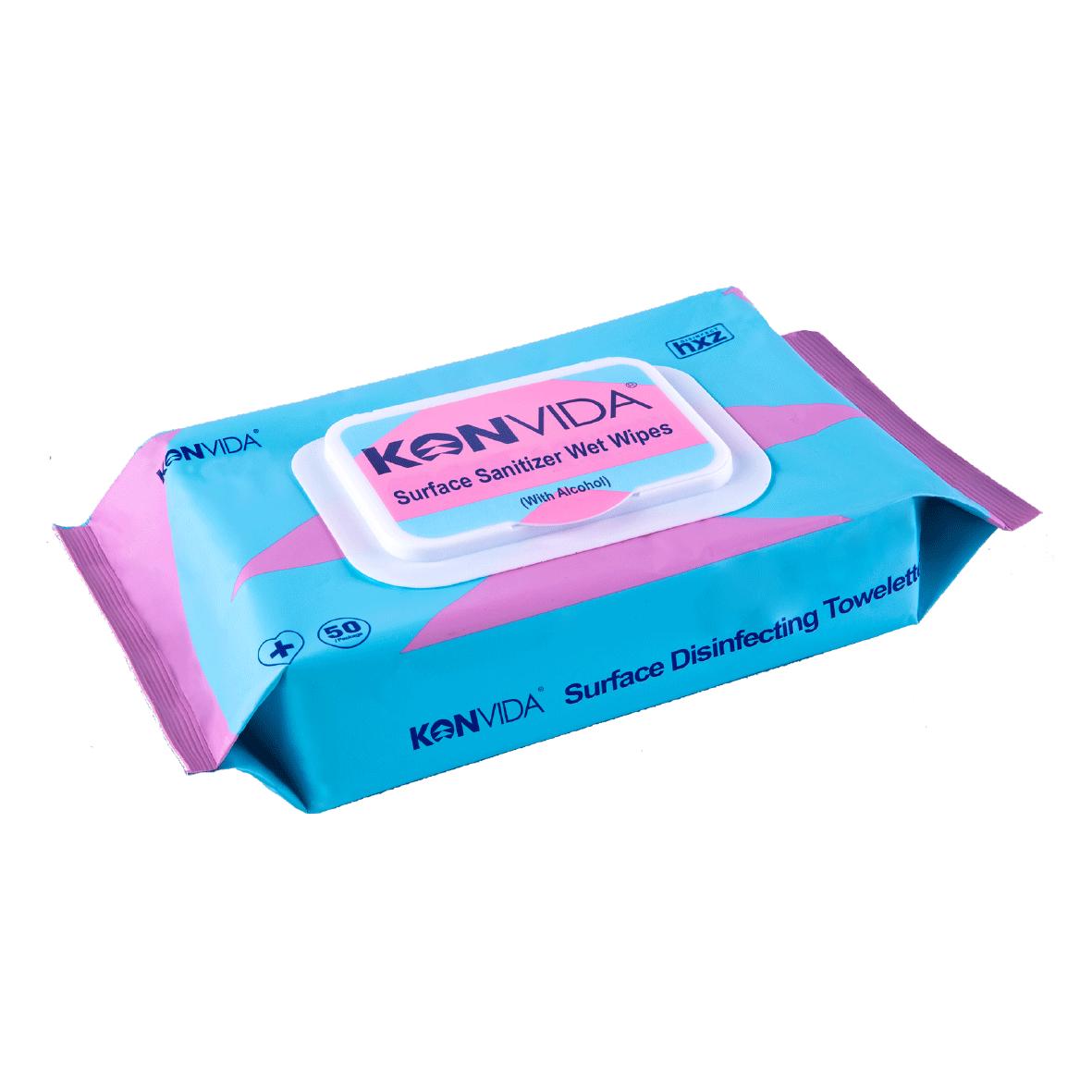 KNOVIDA® Surface Sanitizer Wet Wipes (With Alcohol)