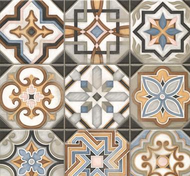 复古多边形花砖3d贴图