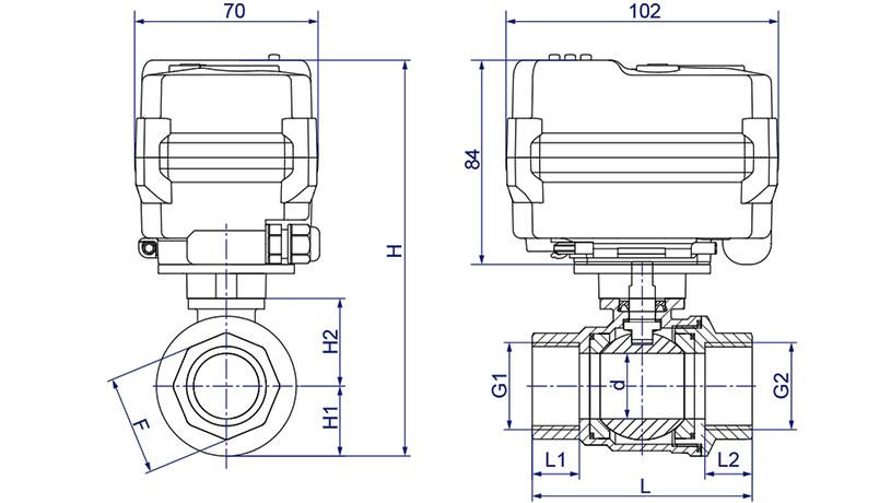 OSAWQ911系列普通/智能开关型电动球阀