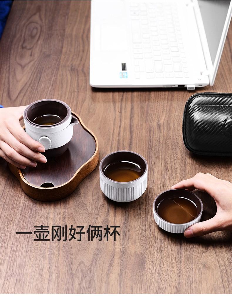 旅行茶具套装便携包_茶壶户外车载茶杯_快客杯