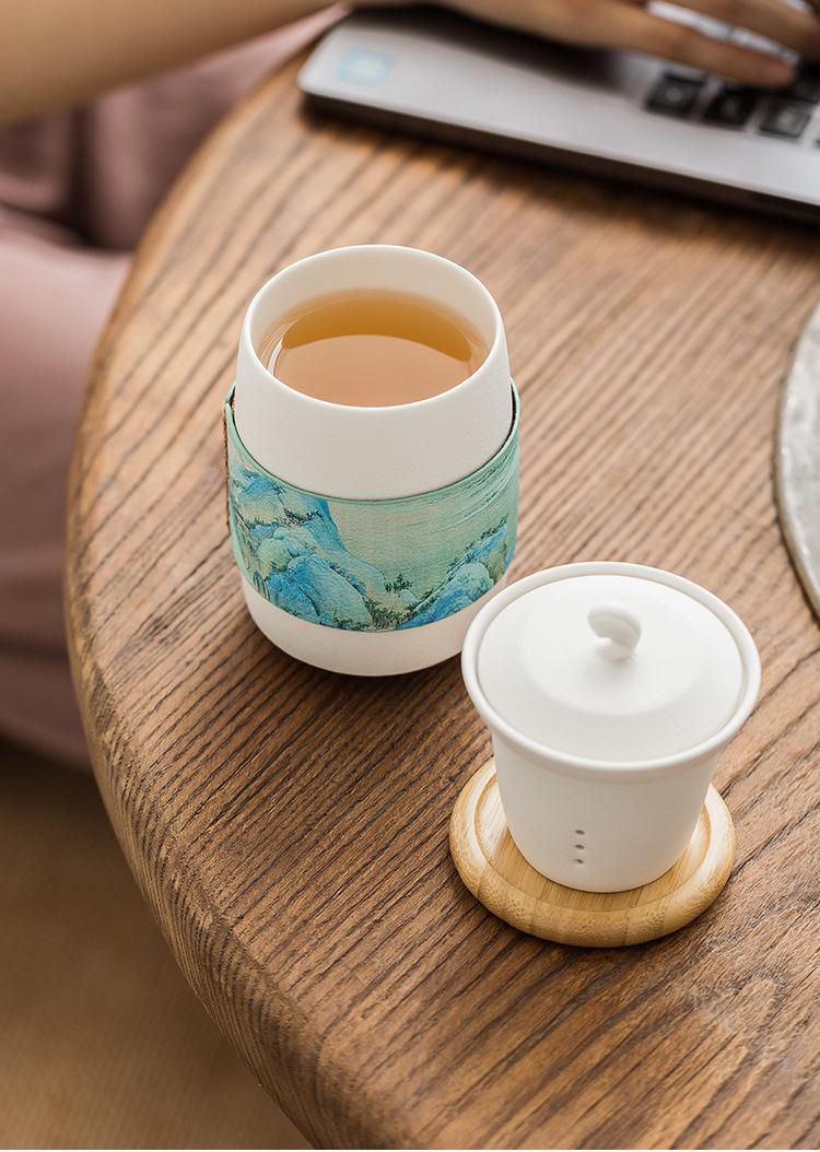 办公室水杯马克杯_茶叶过滤杯情侣水杯