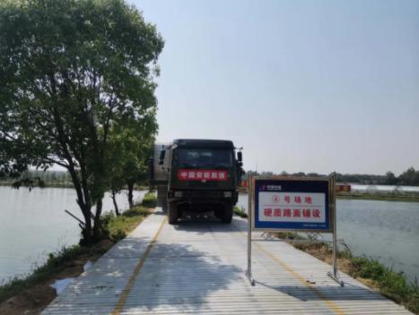 中国应急抢险利器助阵江西防汛应急演练
