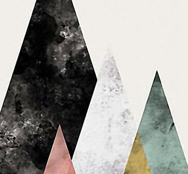 现代几何抽象装饰画3d贴图