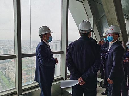 吉林省发改委领导一行实地踏察长春IFC项目