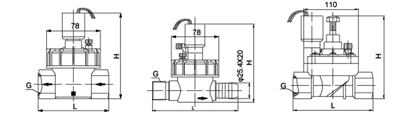 OSA68系列喷灌塑料电磁阀