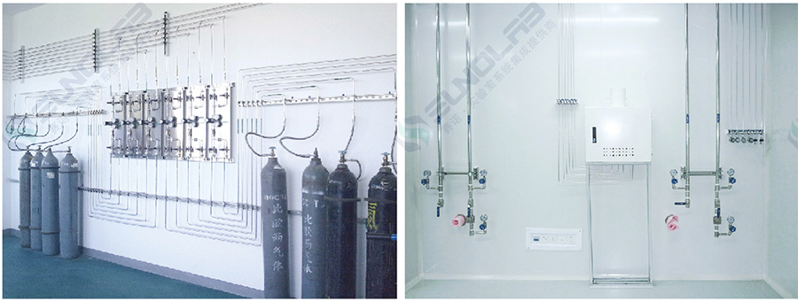 Laboratory centralized gas supply system
