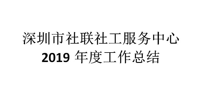 社联2019年度工作总结