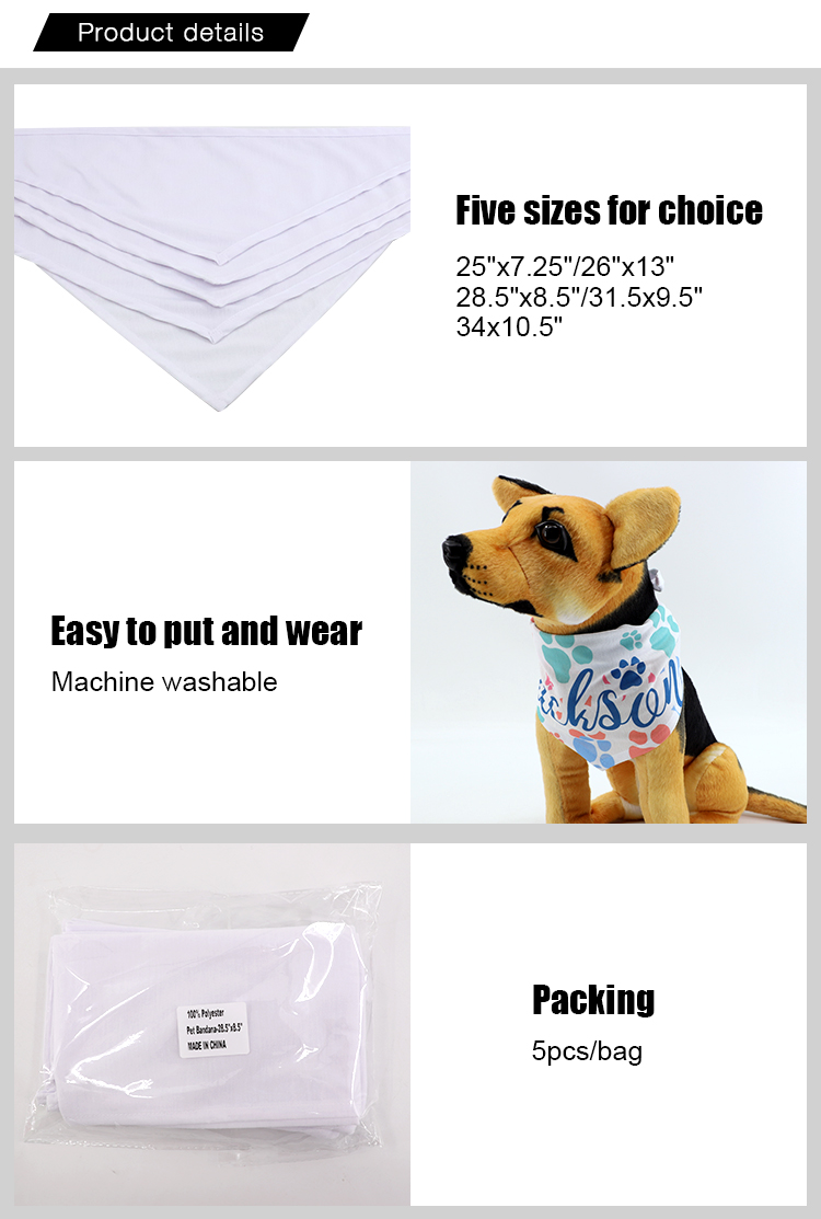 Feature for Sublimation Pet Bandana