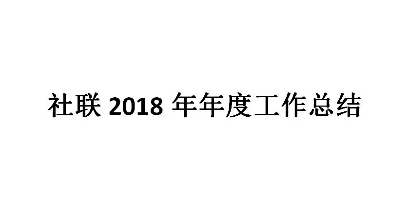 社联2018年年度工作总结及改进计划