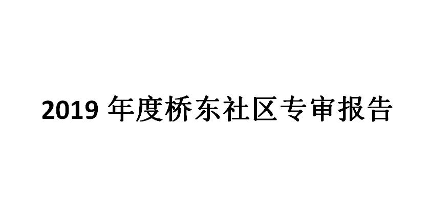 2019年度桥东社区专审报告