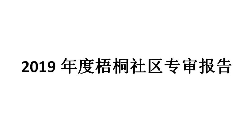 2019年度梧桐社区专审报告