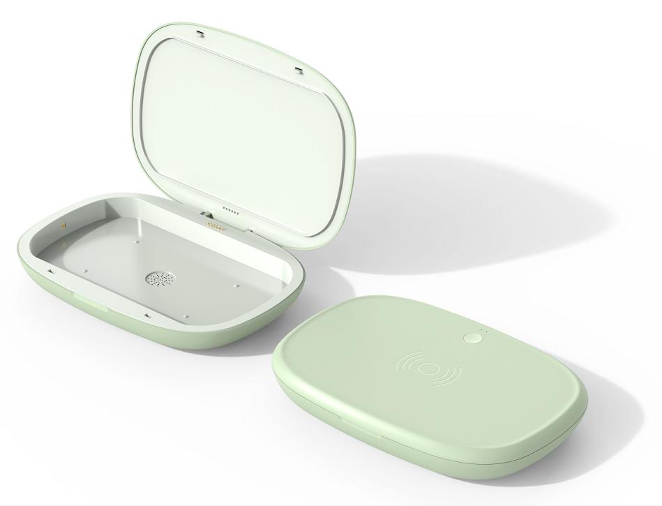 手机无线充消毒盒