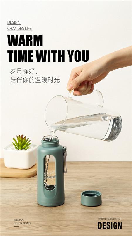 玻璃杯_便携防摔双层简约小巧耐热杯子
