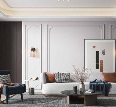 现代暖意客厅3d模型