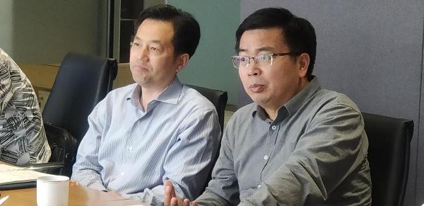 青浦区域办对接基础设施公司商谈合作事宜