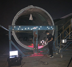 Three-dimensional detection of wind blade base
