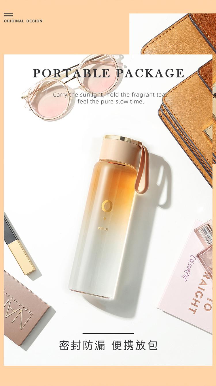玻璃杯_男女便携可爱简约创意个性随手杯