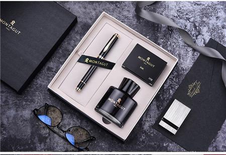法国梦特娇钢笔_石墨碳纤复合钢笔套装