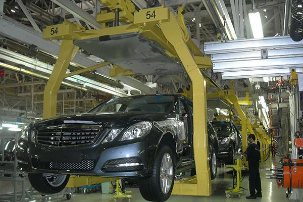 北京奔驰焊装、总装车间输送线