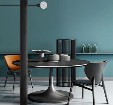 意大利Baxter现代休闲桌椅组合3d模型