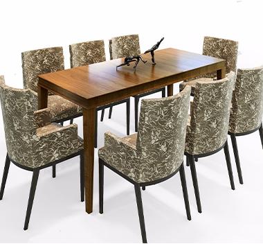 意大利Baxter 现代餐桌椅摆件3d模型