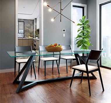 巴西 Sossego现代餐桌椅组合3d模型