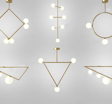 英国areti现代吊灯组合3d模型